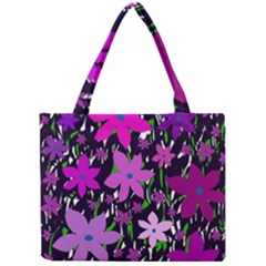Purple Fowers Mini Tote Bag by Valentinaart