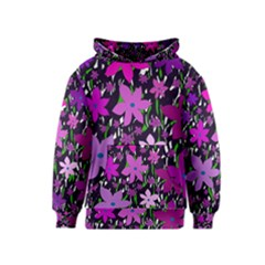 Purple Fowers Kids  Pullover Hoodie by Valentinaart
