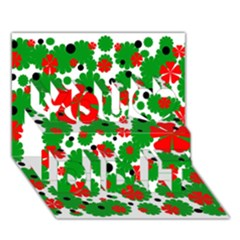 Red And Green Christmas Design  You Did It 3d Greeting Card (7x5) by Valentinaart