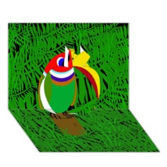 Toucan Apple 3d Greeting Card (7x5)  by Valentinaart