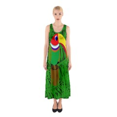 Toucan Sleeveless Maxi Dress by Valentinaart