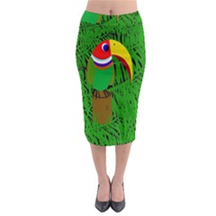Toucan Midi Pencil Skirt by Valentinaart