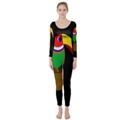 Toucan Long Sleeve Catsuit by Valentinaart