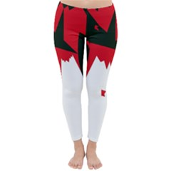 Volcano  Winter Leggings  by Valentinaart