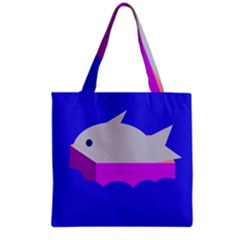 Big Fish Grocery Tote Bag by Valentinaart