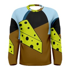 Cheese  Men s Long Sleeve Tee by Valentinaart