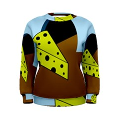 Cheese  Women s Sweatshirt by Valentinaart