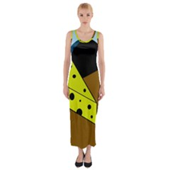 Cheese  Fitted Maxi Dress by Valentinaart