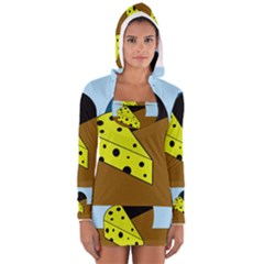 Cheese  Women s Long Sleeve Hooded T-shirt by Valentinaart