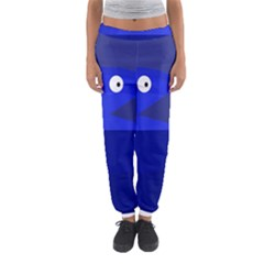 Blue Monster Fish Women s Jogger Sweatpants by Valentinaart