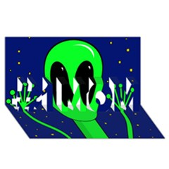 Alien  #1 Mom 3d Greeting Cards (8x4)  by Valentinaart