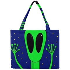 Alien  Mini Tote Bag by Valentinaart