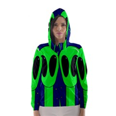 Alien  Hooded Wind Breaker (women) by Valentinaart