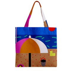 On The Beach  Zipper Grocery Tote Bag