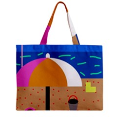 On The Beach  Zipper Mini Tote Bag by Valentinaart