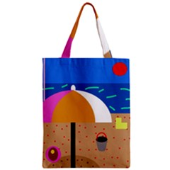 On The Beach  Zipper Classic Tote Bag by Valentinaart