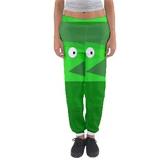 Green Monster Fish Women s Jogger Sweatpants by Valentinaart