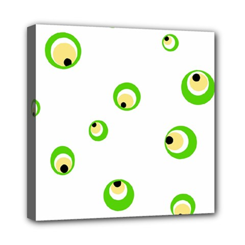 Green Eyes Mini Canvas 8  X 8  by Valentinaart