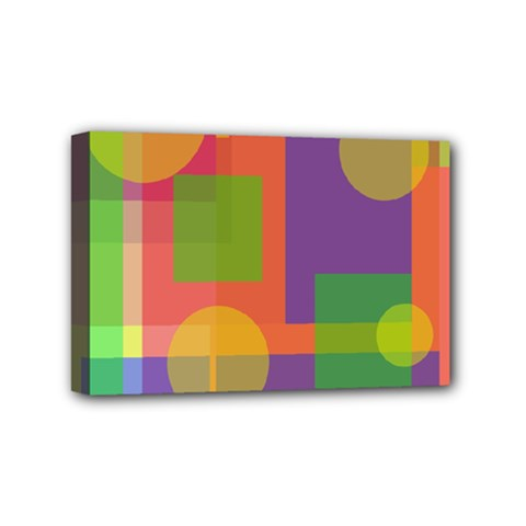 Colorful Geometrical Design Mini Canvas 6  X 4  by Valentinaart