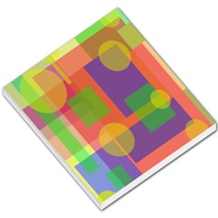 Colorful Geometrical Design Small Memo Pads by Valentinaart