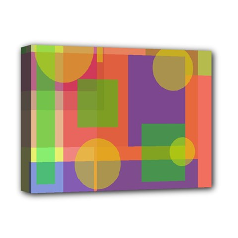 Colorful Geometrical Design Deluxe Canvas 16  X 12   by Valentinaart