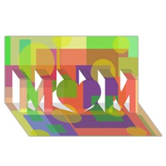 Colorful Geometrical Design Mom 3d Greeting Card (8x4)  by Valentinaart