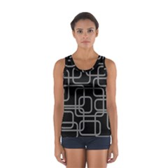 Black And Gray Decorative Design Tops by Valentinaart
