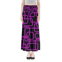 Purple And Black Elegant Design Maxi Skirts by Valentinaart