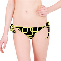 Yellow And Black Decorative Design Bikini Bottom by Valentinaart