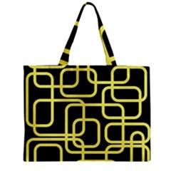 Yellow And Black Decorative Design Zipper Mini Tote Bag by Valentinaart