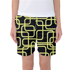 Yellow And Black Decorative Design Women s Basketball Shorts by Valentinaart