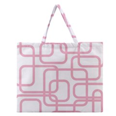 Pink Elegant Design Zipper Large Tote Bag by Valentinaart
