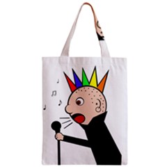 Punker  Zipper Classic Tote Bag by Valentinaart