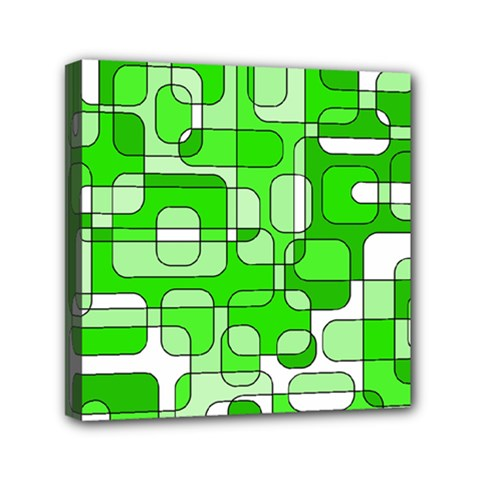 Green Decorative Abstraction  Mini Canvas 6  X 6  by Valentinaart