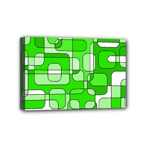 Green Decorative Abstraction  Mini Canvas 6  X 4  by Valentinaart