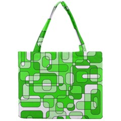 Green Decorative Abstraction  Mini Tote Bag by Valentinaart