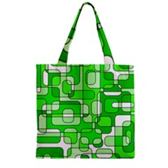 Green Decorative Abstraction  Zipper Grocery Tote Bag by Valentinaart