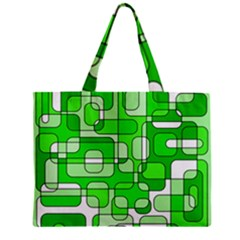 Green Decorative Abstraction  Zipper Mini Tote Bag by Valentinaart