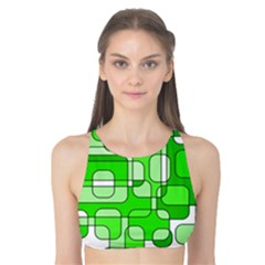 Green Decorative Abstraction  Tank Bikini Top by Valentinaart
