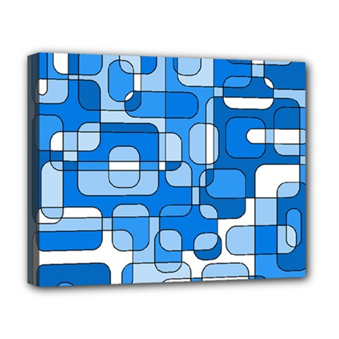 Blue Decorative Abstraction Deluxe Canvas 20  X 16   by Valentinaart