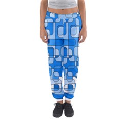 Blue Decorative Abstraction Women s Jogger Sweatpants by Valentinaart