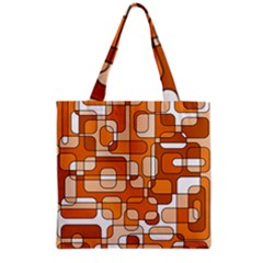 Orange Decorative Abstraction Grocery Tote Bag by Valentinaart