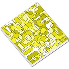 Yellow Decorative Abstraction Small Memo Pads