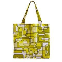 Yellow Decorative Abstraction Zipper Grocery Tote Bag by Valentinaart
