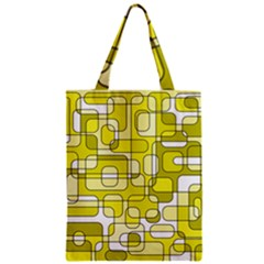 Yellow Decorative Abstraction Zipper Classic Tote Bag by Valentinaart