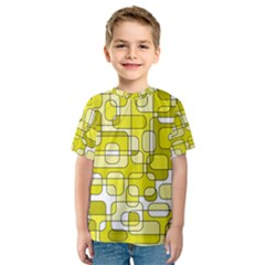 Yellow Decorative Abstraction Kid s Sport Mesh Tee by Valentinaart