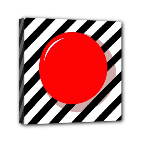 Red Ball Mini Canvas 6  X 6  by Valentinaart