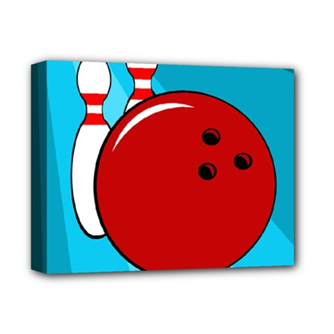 Bowling  Deluxe Canvas 14  X 11  by Valentinaart