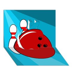 Bowling  Apple 3d Greeting Card (7x5)  by Valentinaart