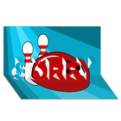 Bowling  Sorry 3d Greeting Card (8x4)  by Valentinaart